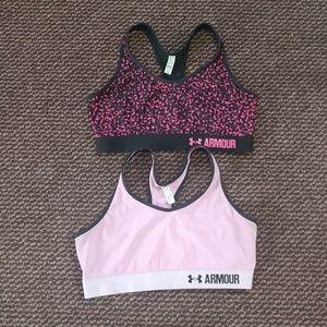 Under Armour sports bras L
